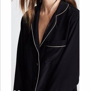 New Kiki De Montparnasse Silk PJ Top Shirt
